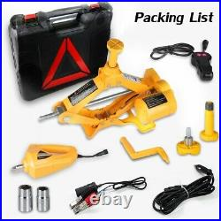 3 Ton Electric Hydraulic Floor Jack Lift+Electric Impact Wrench Car Van US Stock
