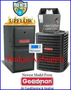 3 Ton Goodman/ASPEN 14 seer 95/96% 80K BTU Gas Furnace UPFLOW+ 25ft Lineset