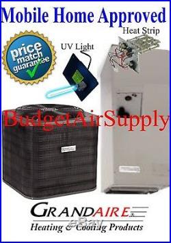 3 ton 14 SEER ICP/Grandaire MOBILE HOME APPROVED A/C Split System +UV+HeatStr++