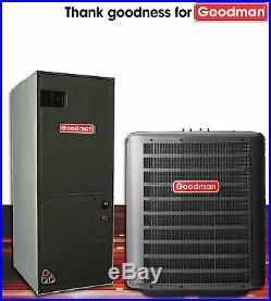 3 ton Goodman 14 seer R-410A heat pump system GSZ140361 / ARUF37C14