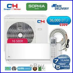 36,000 BTU Mini Split Ductless Air Conditioner WiFi Heat Pump 16 SEER 3 TON C&H