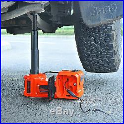 3in1 Car Electric Jack Hydraulic 12V DC 5 Ton Tire Inflator Pump, LED Flashlight