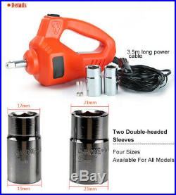 3in1 Electric Hydraulic Car Floor Jack Air Inflator Pump LED Light Impact Wrench