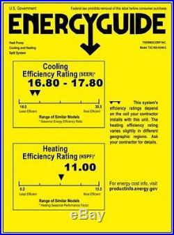 4 TON Ductless Mini Split Air Conditioner, Heat Pump Ceiling Cassette, 48000 BTU