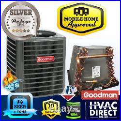 4 Ton 14 SEER Goodman Mobile Home Approved AC Heat Pump Condenser and ADP Coil
