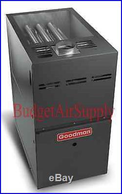 4 Ton Goodman 14 seer 80% 80K BTU 2 stage UPFLOW Gas Furnace+Tstat
