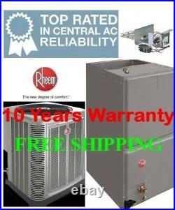 4 Ton R410A 15SEER Heat Pump System Condenser / Air Handler with Coil & Heating