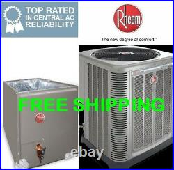 4 Ton Rheem R-410A 14SEER A/C Condensing Unit & Evaporator Coil