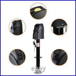 4000LB Electric Power LED Tongue 18Ton 12v Trailer Camper Jack RV Boat US Seller