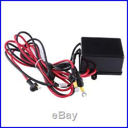 4000LBS 2 Ton 12V Electric Winch Towing Truck Trailer Synthetic Rope Black