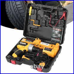 42cm 3 Ton Car Electric Scissor Jack Lift DC 12V Floor Lift Tire Repair Tool