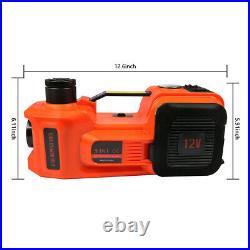 45CM 12V 5Ton 11023lb Electric Hydraulic Floor Jack 4in1 Safe Hammer & LED Light
