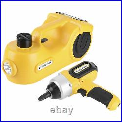 5 Ton 12V DC Electric Car Hydraulic Floor Jack Impact Wrench Kit 17.7in Lift