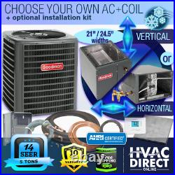 5 Ton 14 SEER Goodman Air Conditioner GSX140601 + Build Your Own Coil Kit AC