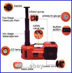 5 Ton Car Jack Lift 12V 5T Electric Hydraulic Floor Jack LED Repair Lift Tool