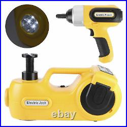 5 Ton Electric Hydraulic Floor Jack 17.7in Lift Impact Wrench Kit 12V DC