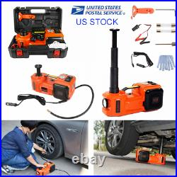 5 Ton Electric Hydraulic Floor Jack 3in1 Car Jack Lift 12V DC Tire Inflator Pump