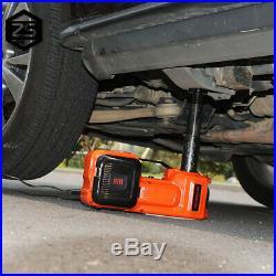 5 Ton Electric Hydraulic Floor Jack Lift Air Compressor Pump Car Van US Stock