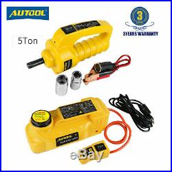 5 Ton Electric Hydraulic Jacks Floor Jack Lifting Tool + Electric Impact Wrench