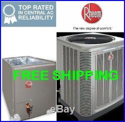 5 Ton Rheem R-410A 14SEER Rheem A/C Condensing Unit & Evaporator Coil