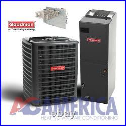 5 Ton Split System 14 SEER Goodman Heat Pump GSZ140601 ASPT61D14 Free Heat Strip