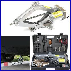 5 Tons 12V Automatic Electric Car Jack Scissor Lift Garage Vehicle Tire Repair