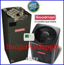 5 ton 16(15.5) SEER Goodman Heat Pump GSZ16060+AVPTC60D+FLUSH+410a+50ft INSTALL