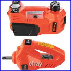 5Ton 12V Electric Hydraulic Car Floor Jack Kit Lift Impact Wrench for SUV MPV