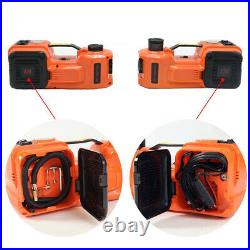 5Ton Car Electric Jack Hydraulic Floor 12V DC Tire Inflator Air Pump Wrench Tool