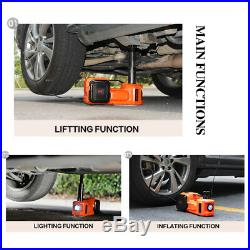 5Ton Car Jack Electric Hydraulic Protable Tire Wrench Impact Tool Wagenheber 12V