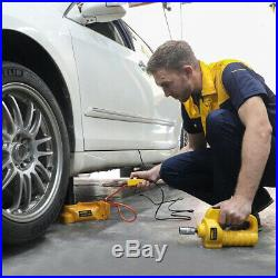 6 Ton Car Lift Jacks Electric Hydraulic Floor Jack Impact Wrench Kit SUV 12V DC