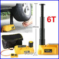 6 Ton Jack Stand 12V Electric Hydraulic Floor Jack Lift for Car SUV Repair Tool