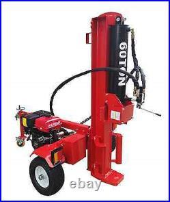 60 Ton 15HP 420cc Gas Powered Hydraulic Log Wood Splitter Cutter Electric Start