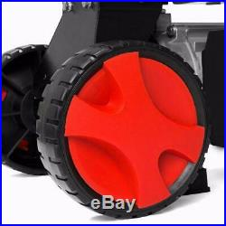 7 Ton Electrical Hydraulic Log Splitter Cutter 7 Mobile Wheels Red