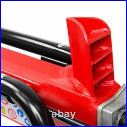 7 Tons Capacity Log Splitter Cut Wood Electrical Cutter Hydraulic with Wheel Red