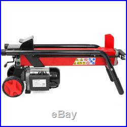 7 Tons Horizontal Log Splitter Cut Wood Mobile Electrical Cutter Hydraulic Wheel