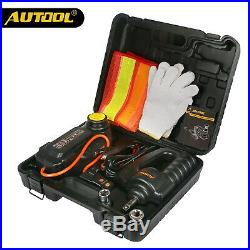 AUTOOL 12V Car 3 Ton Portable Electric Hydraulic Food Jacks Impact Wrench Kit