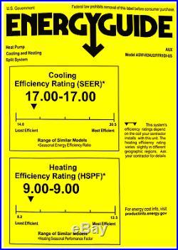 AUX 24000BTU Ductless Air Conditioner Heat Pump J-S MINI Split 2TON 17SEER 230V