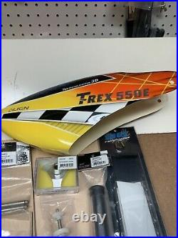 Align Trex 550e Helicopter parts lot blades tons of parts
