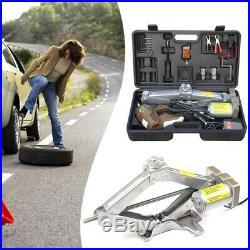 Auto. Electric Car Jack, Adjustable 5 Ton 12v Scissor Lift Jack f/ Tire Change F