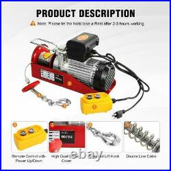BEAMNOVA 2200lb 1 Ton Electric Hoist Lift Overhead Winch with Remote Control