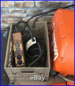 BRAND NEW CM Columbus McKinnon 5 Ton Electric Chain Hoist 3/24 FPM Lodestar