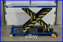 BigBlue Electric Hydraulic Scissor Lift Table 48 x 68 x 40 8000lb 4-Ton 110V