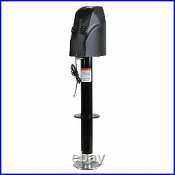 Black 18Ton 4000LBS 12V ELECTRIC LIFT TONGUE Lifting JACK CAMPER RV TRAILER US