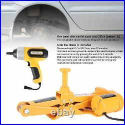 BrandNew 3 Ton 12V Electric Car Jacks Automatic Lift Scissor Garage Repair Tool