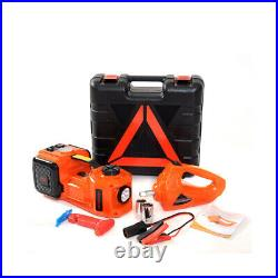 Car 5T 5Ton Jack Stand Lifting Electric Hydraulic + Air Pump Electric Wrench Kit
