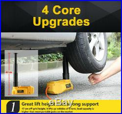 Car 6 T Ton Jacks Electric Floor Jacks Lift with Impact Wrench Portable 12V DC