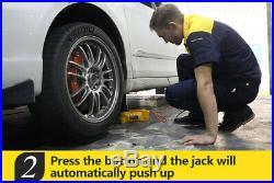 Car 6 Ton 12V DC Hydraulic Electric Jacks Electric Replace Tire Lifting Jack Kit