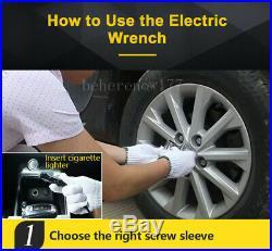 Car Electric Jack Hydraulic Floor 11023lb 12V DC 5 Ton Lift Scissor & Wrench Kit
