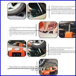 Car Electric Jack Hydraulic Floor 12V DC 5 Ton Lift Scissor Jack Repair 11023lb